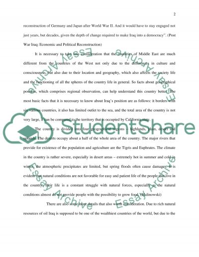 Situation in Iraq essay example