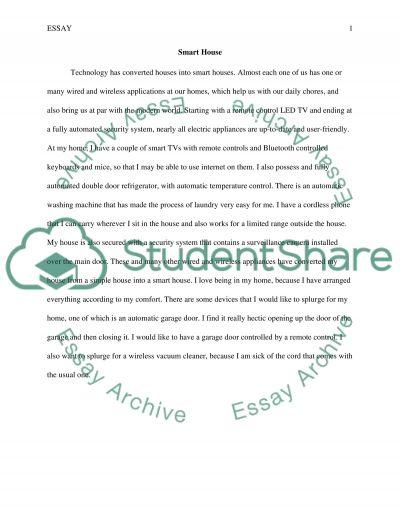 Smart House essay example