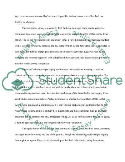 Case Study Evaluation: Red Bull essay example