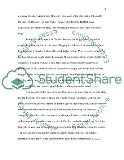 personal essay blogs