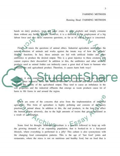 Farming Methods essay example