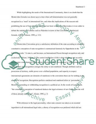 International Law essay example