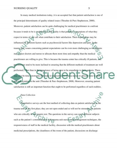 Quality essay example