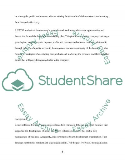 THe Marketing Plan Essay example