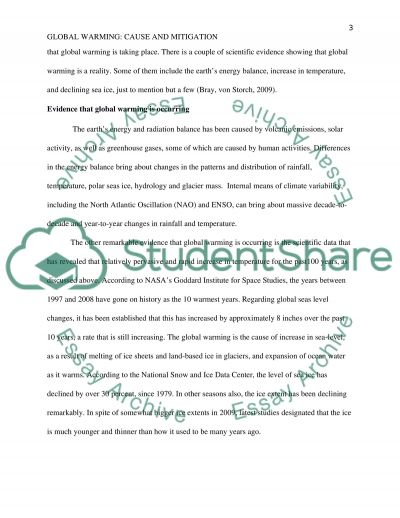 global warming a mitigation plan essay