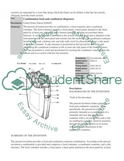Condiment snack holder essay example