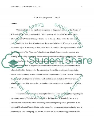 EDLE 639 - Assignment 2 - Take 2 essay example