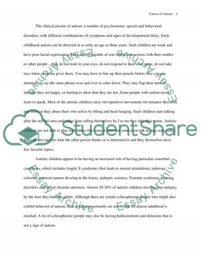 thesis on autism essay Check out our top free essays on autism to help you write your own essay.