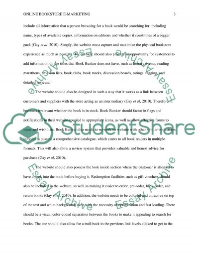 Online Bookstore E-marketing Term Paper example