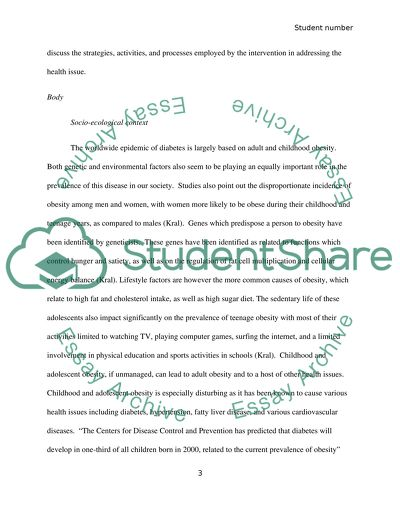 Research Essay Proposal Sample Health Promotion Diabetes What Is A Thesis Statement For An Essay also Healthy Foods Essay Health Promotion Diabetes Essay Example  Topics And Well Written  Healthy Lifestyle Essay