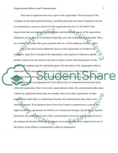 Organizational Behavior and Communication essay example