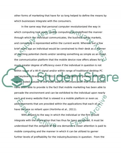 Mobile devices Essay example