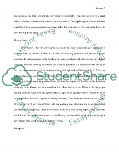 communication relationship essays
