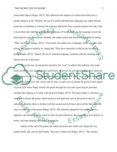 analysis of the poem the secret life of books by stephen edgar essay analysis of the poem the secret life of books by stephen edgar essay example