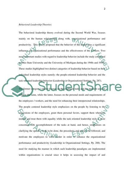 what is behavioral perspective essay