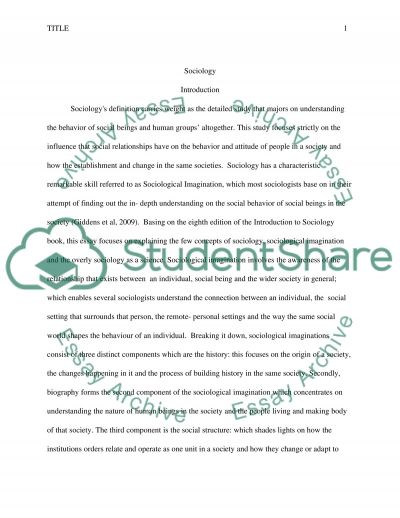 Sociology Assignment Paper