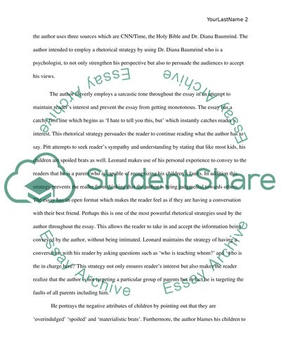 spare the rod and spoil the child essay 350 words