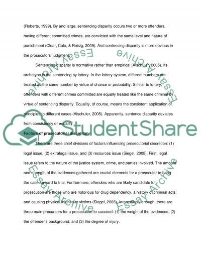 Sentencing Disparity essay example