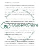 The Importance of Accountability Paper Essay example