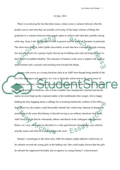 john updikes a p essay example topics and well written essays  john updikes a p essay example