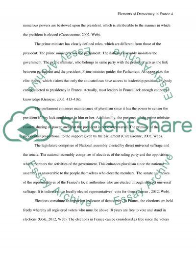 Elements of an essay idea