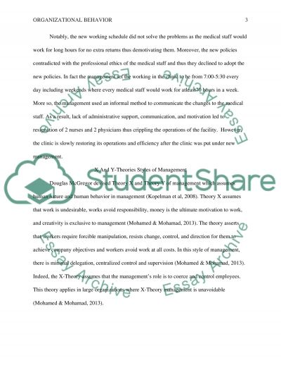 Organizational Behavior essay example