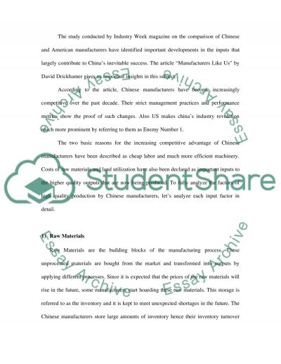 Sampling and Continuous Improvement Essay example