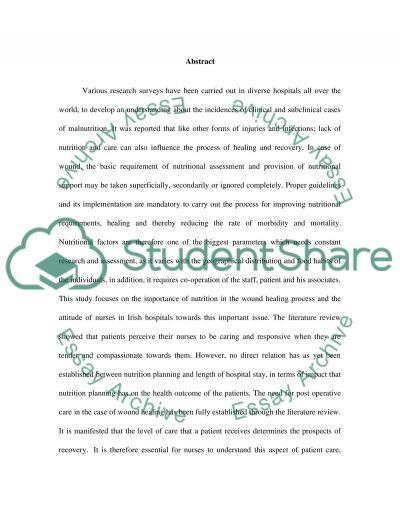 Nurses Attitudes to the Importance of Nutrition essay example