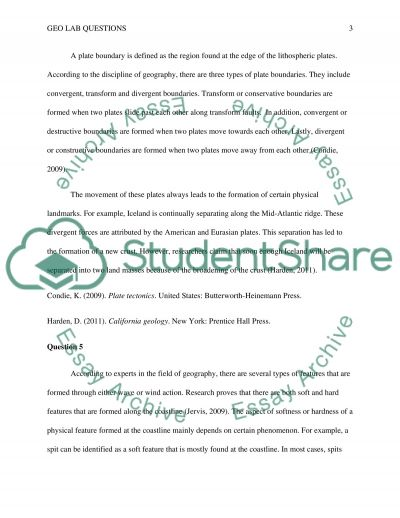 Geo Lab Questions essay example