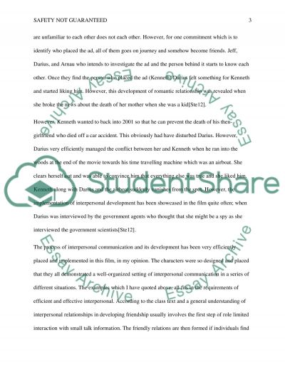 Safety Not Guaranteed essay example