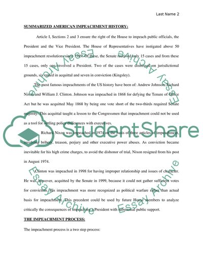 Topic For English Essay The Impeachment Process Sample Essay Thesis Statement also Business Essay Example The Impeachment Process Essay Example  Topics And Well Written  English As A World Language Essay