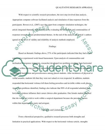 read text - Example Of Critical Appraisal Essay