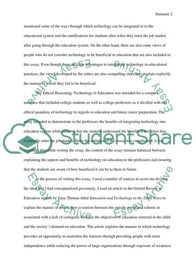 Connected the Education in Technology essay