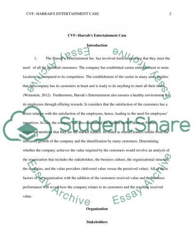 Case 4: Harrahs Entertainment--Loyalty Management essay example