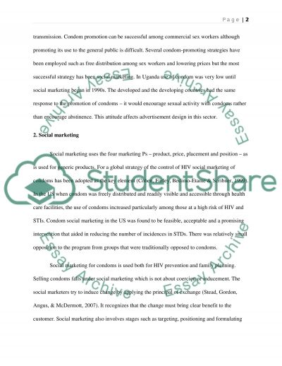 The advertising of condoms essay example