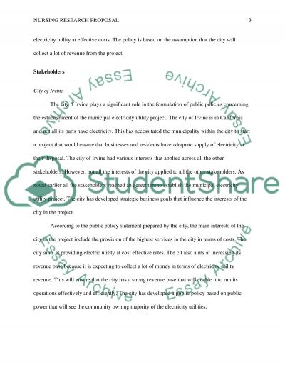 Nursing research essay example