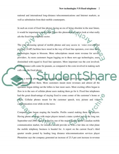 Communication goes tech, penny wise essay example