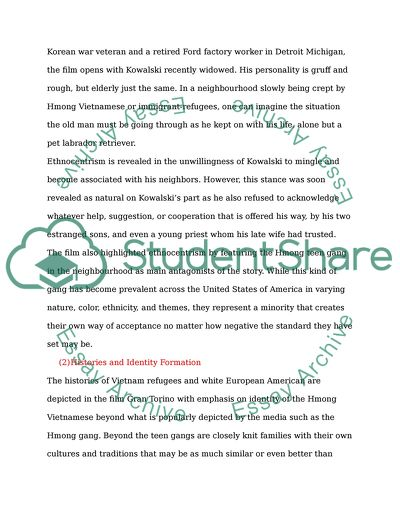 Essays About Science Gran Torino Communication Identity And History Proposal Essay Example also Political Science Essays Gran Torino Communication Identity And History Essay Personal Essay Examples For High School
