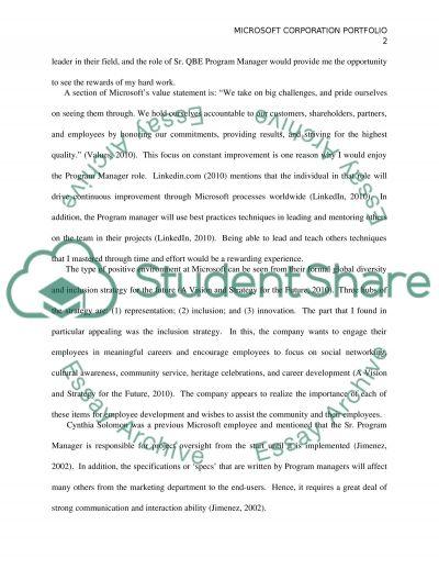 Management portfolio essay example