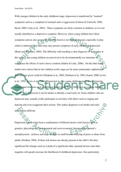 Evaluation of a Current Child Health Issue essay example