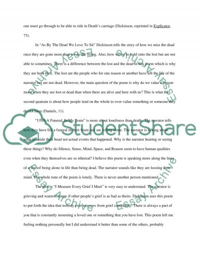 Poetry by Emily Dickinson essay example