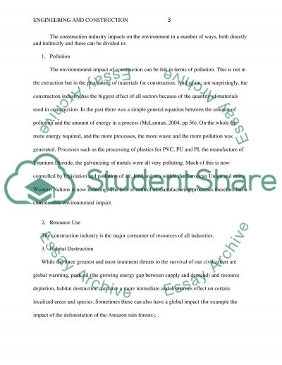 Sustainable Construction Method essay example