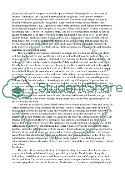 research paper on oedipus Oedipus the king essay back next  writer's block can be painful, but we'll help get you over the hump and build a great outline for your paper organize your thoughts in 6 simple steps narrow your focus build out your thesis and paragraphs vanquish the dreaded blank sheet of paper.