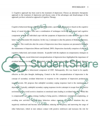 Psychology (Cognitive-behavioral therapy) essay example