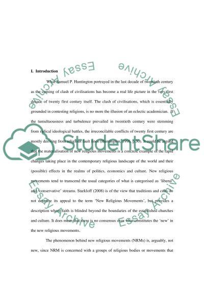 New Religious Movements Essay essay example