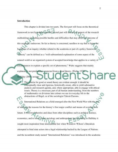 Theories & Methods essay example