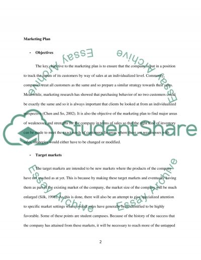 Custome Relationship Management Assignment 2 Essay example