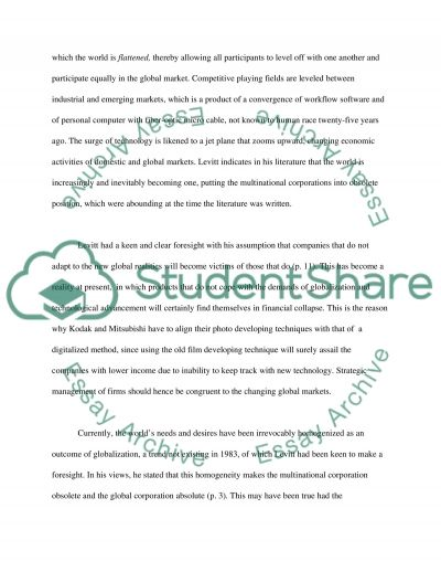 Globalization and Changing Market Trends essay example