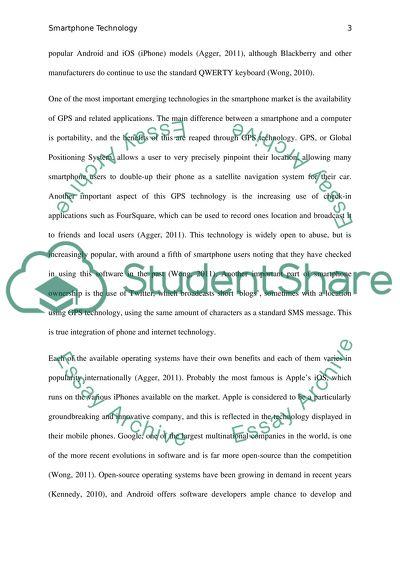 Smart Phones Essay Example | Topics and Well Written Essays - 2500 words