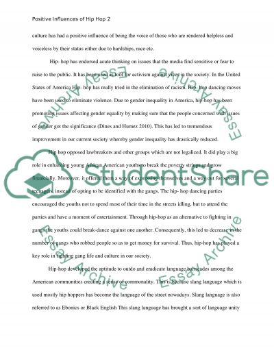 Positive Influence of Hip-Hop essay example
